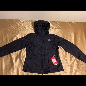 The northface jacket womens small black new
